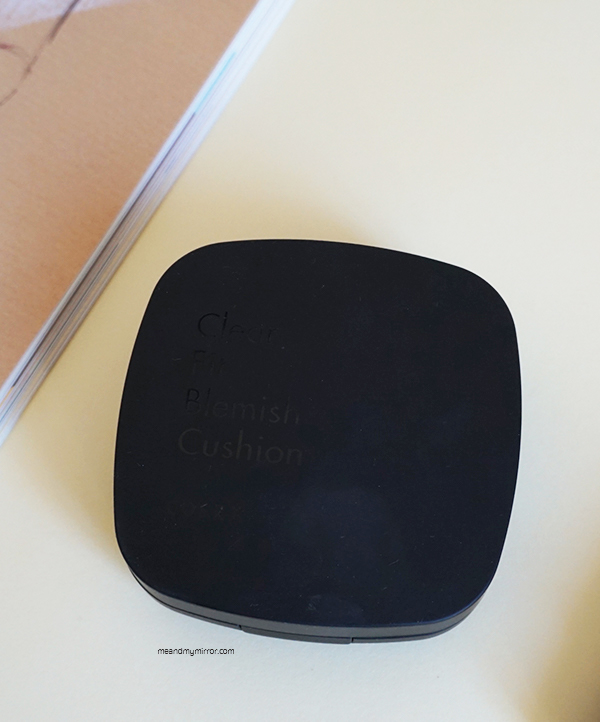COSRX Clear Fit Blemish Cushion - SPF47 PA++ Sleek matte black packaging